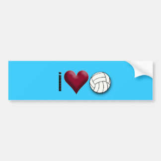 i love volleyball bumper sticker