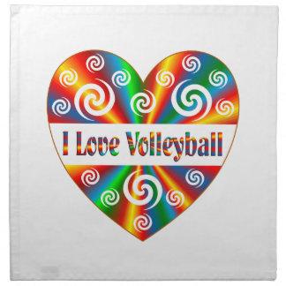 I Love Volleyball Napkin
