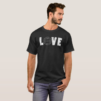 I Love Volleyball Sports Words Graphic Tee