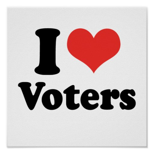 I LOVE VOTERS - .png Poster