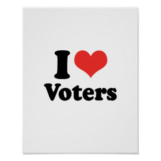 I LOVE VOTERS - png Posters