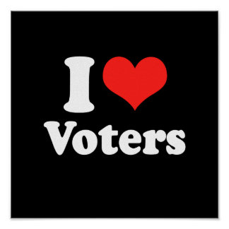 I LOVE VOTERS png Print