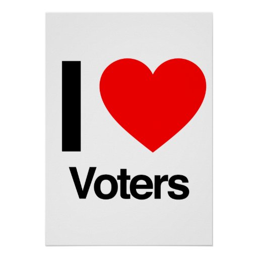 i love voters print