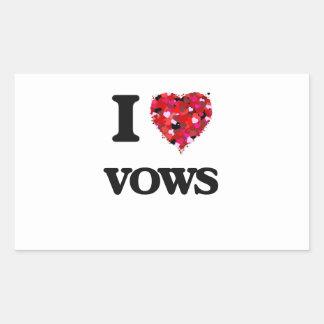 I love Vows Rectangular Sticker