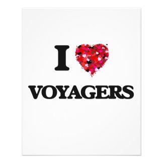 I love Voyagers 11.5 Cm X 14 Cm Flyer