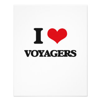 """I love Voyagers 4.5"""" X 5.6"""" Flyer"""