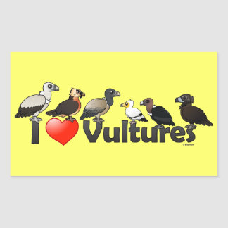 I Love Vultures (Eurasia) Rectangular Sticker