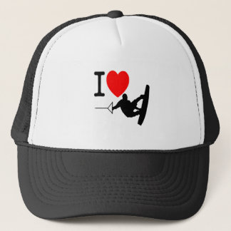 I LOVE WAKEBOARDING TRUCKER HAT