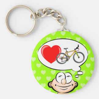 I love walking in biciclets key ring