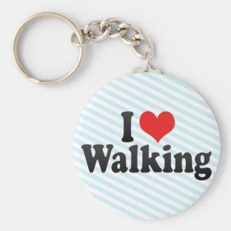 I Love Walking Keychain