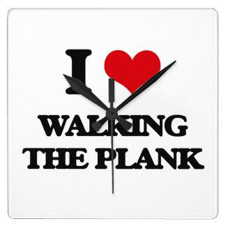 I love Walking The Plank Wall Clock