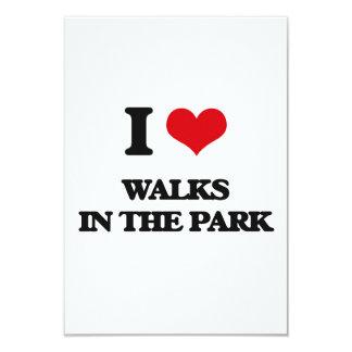 "I love Walks In The Park 3.5"" X 5"" Invitation Card"