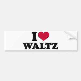 I love Waltz Bumper Sticker