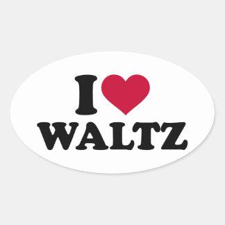 I love Waltz Oval Sticker