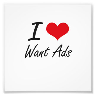 I love Want Ads Photo