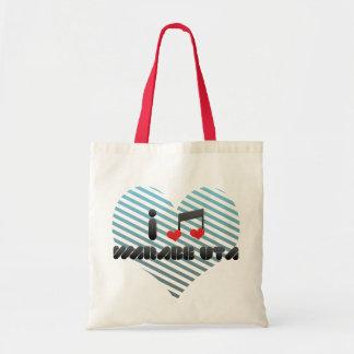 I Love Warabe Uta Canvas Bags