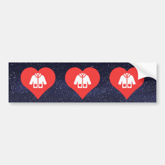 I Love Warm Jackets Design Bumper Sticker