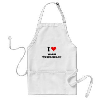 I Love Warm Water Beach Wisconsin Adult Apron