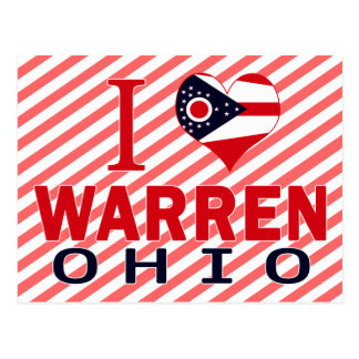 I love Warren, Ohio Postcard