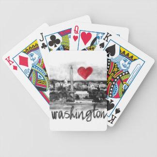 I love Washington Bicycle Playing Cards