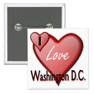 I Love Washington D.C. 15 Cm Square Badge