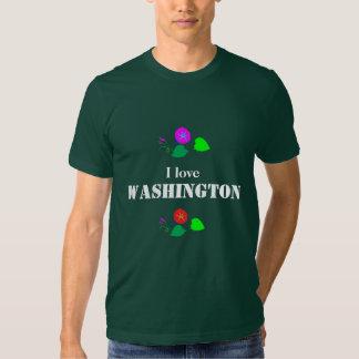 I love WASHINGTON D C America USA T-shirts