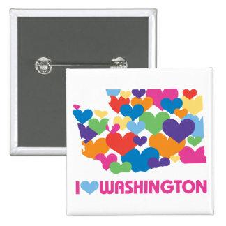 I Love Washington Heart Button