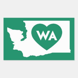 I Love Washington State Rectangle Stickers