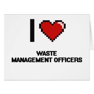 I love Waste Management Officers Big Greeting Card