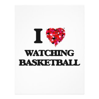 I love Watching Basketball 21.5 Cm X 28 Cm Flyer