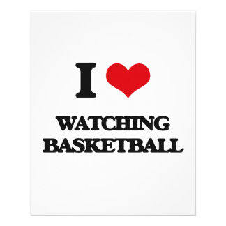 I love Watching Basketball 11.5 Cm X 14 Cm Flyer