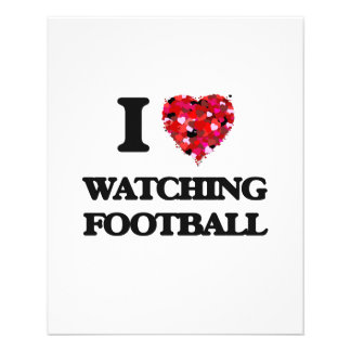 I love Watching Football 11.5 Cm X 14 Cm Flyer