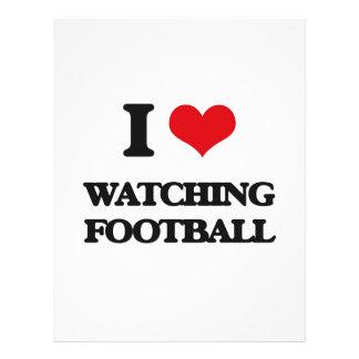 I love Watching Football 21.5 Cm X 28 Cm Flyer