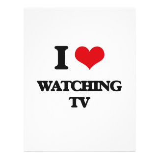 I love Watching Tv 21.5 Cm X 28 Cm Flyer