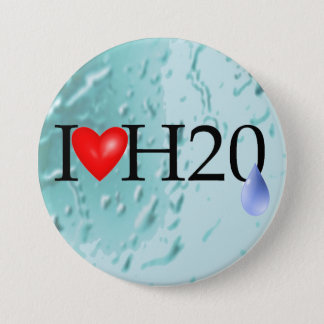 I Love Water 7.5 Cm Round Badge