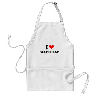 I Love Water Bay Virgin Islands Adult Apron