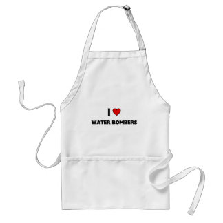 I love Water bombers Adult Apron