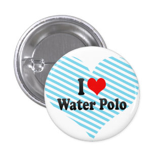 I love Water Polo 3 Cm Round Badge
