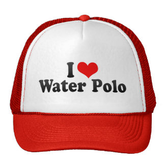 I Love Water Polo Cap
