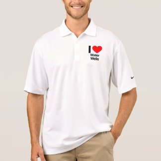 i love water wells polo t-shirts