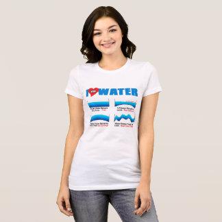 I LOVE WATER Womens Tshirt  |  AllSeeingHeart.org