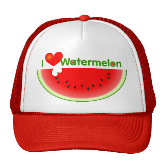 I Love Watermelon Hat