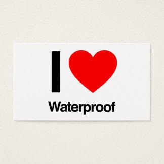 i love waterproof business card