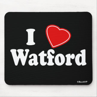 I Love Watford Mouse Pad