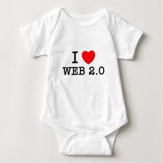 I Love Web 2.0 Baby Bodysuit