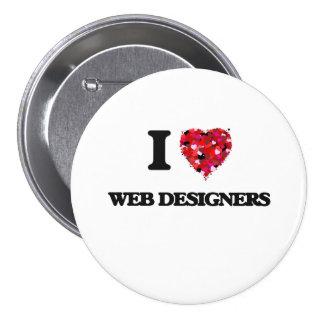 I love Web Designers 7.5 Cm Round Badge