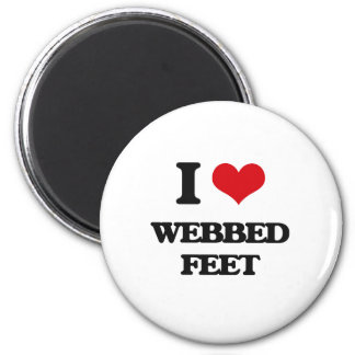 I love Webbed Feet 2 Inch Round Magnet