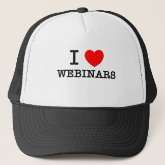 I Love Webinars Trucker Hat