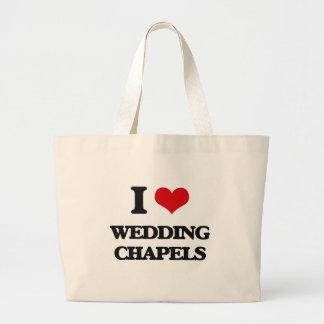 I love Wedding Chapels Jumbo Tote Bag