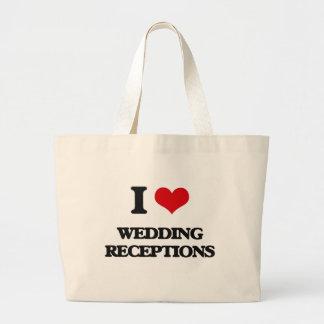 I love Wedding Receptions Jumbo Tote Bag